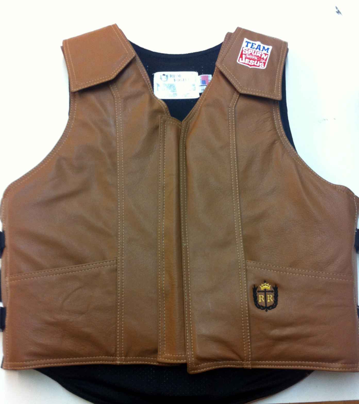 euipment Team Spurn with Jesus Saddle Tan Vest