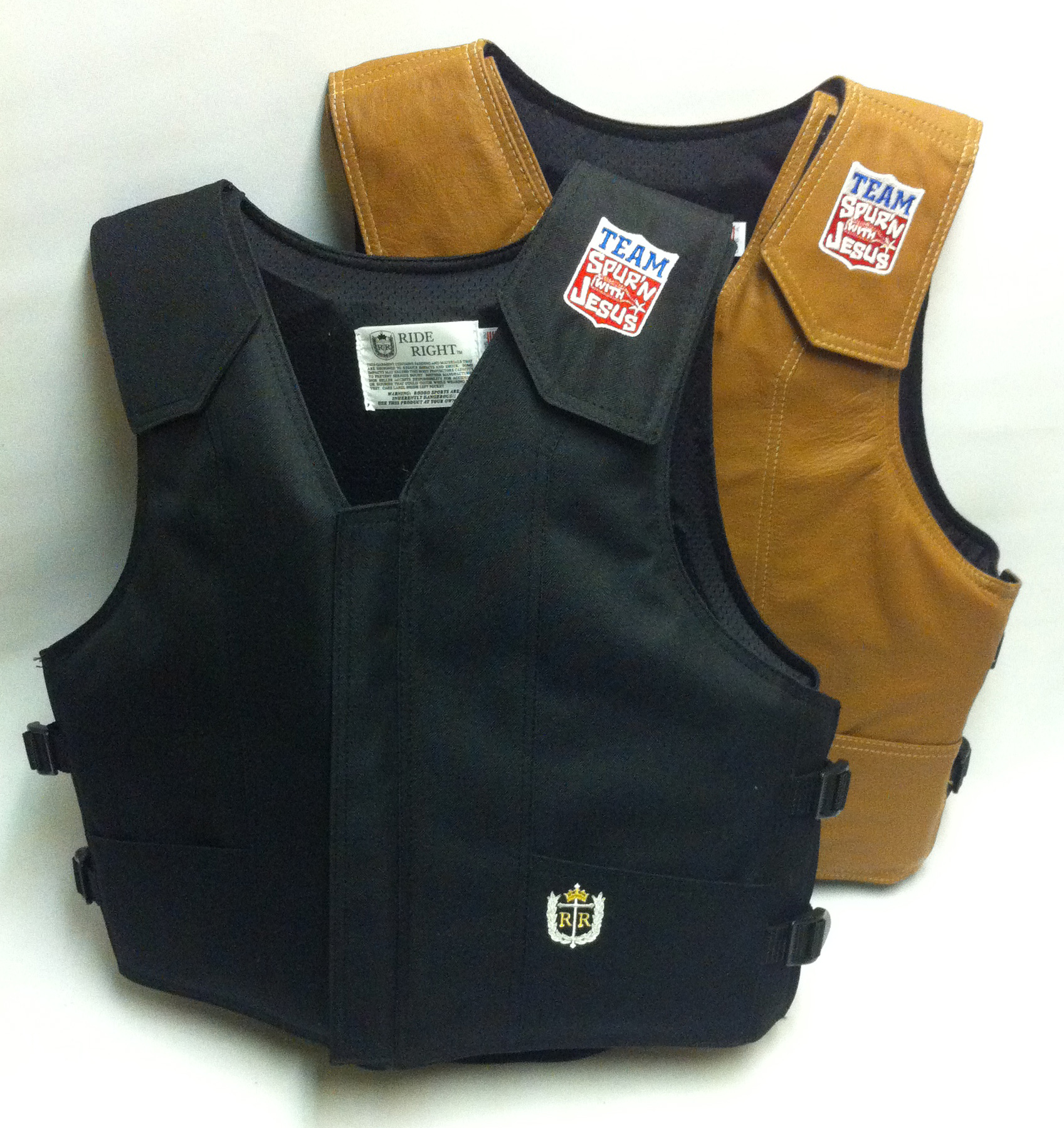 euipment Team Spurn with Jesus  poly and leather vest